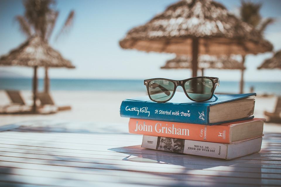 Books Vacation Beach Relax Sunglasses Reading